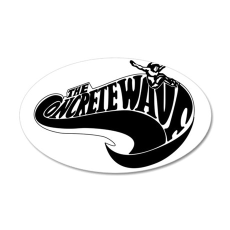 Concrete Wave 35x21 Oval Wall Decal