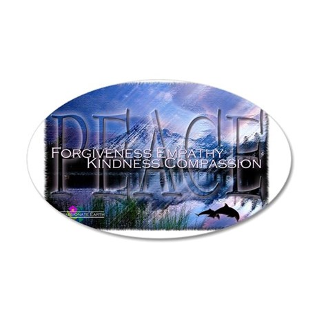 CE - Peace 35x21 Oval Wall Decal
