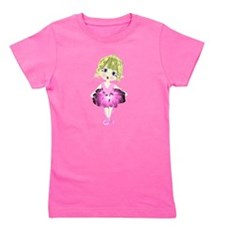 Ballerina in Pink Tutu art Girl's Tee