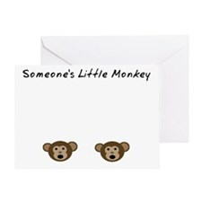 Someones Little Monkey Greeting Card