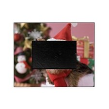 Yorkshire Terrier Puppy and Christma Picture Frame