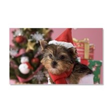 Yorkshire Terrier Puppy and Chr Car Magnet 20 x 12