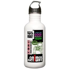 Vegan/Animal Rights Scrapbook Water Bottle