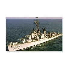 uss samuel n. moore rectangle mag Wall Decal