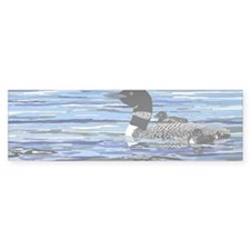 loon with babies Bumper Sticker