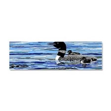 loon with babies Car Magnet 10 x 3