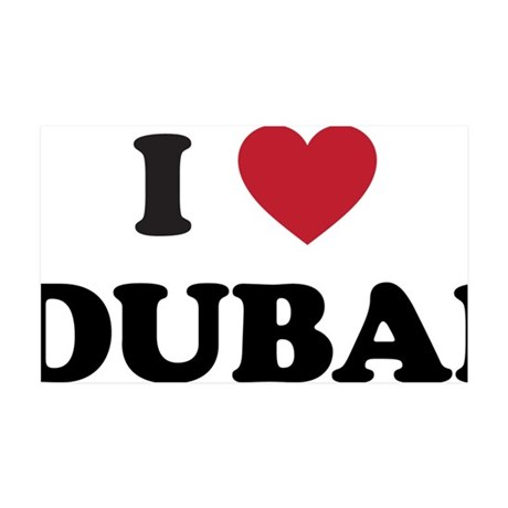 I Love Dubai 35x21 Wall Decal