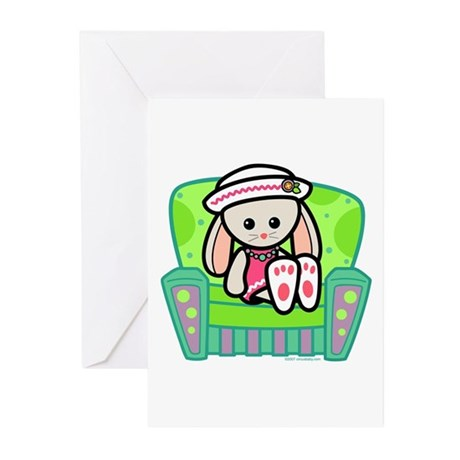Little Bunny Girl Greeting Cards (Pk of 10)