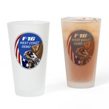 F-16 Fighting Falcon West Coast Dem Drinking Glass