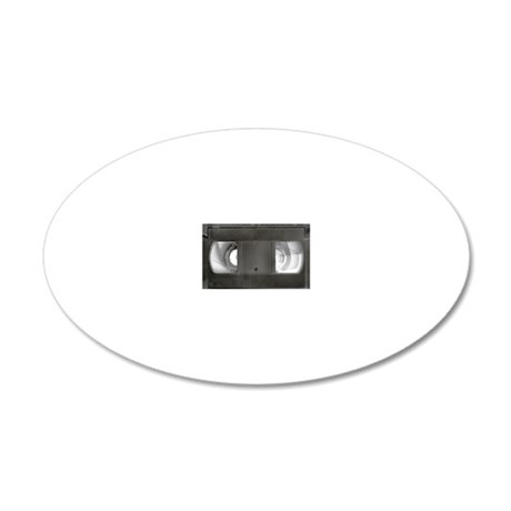 VHS tape 20x12 Oval Wall Decal