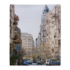 A city street in Retiro Buenos Aires Throw Blanket