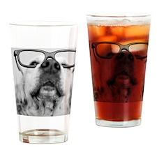 Dog wearing glass Drinking Glass