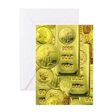 gold coin Greeting Card
