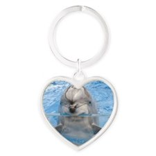 Dolphin Gel Mouse Heart Keychain