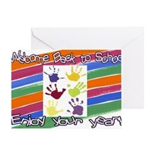 Back to School Handprints Greeting Card