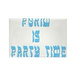 Purim Party Time Rectangle Magnet (100 pack)