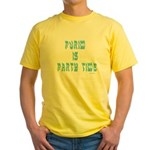 Purim Party Time Yellow T-Shirt