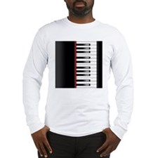 Piano Keyboard Queen Duvet Long Sleeve T-Shirt