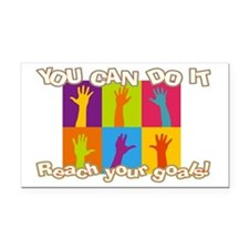 Reach your goals Rectangle Car Magnet