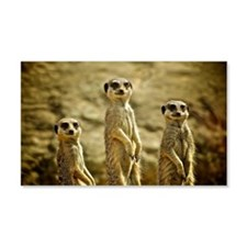 Three Meerkats standing Wall Decal