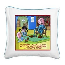 Grandpa Prozac  The Great Dep Square Canvas Pillow