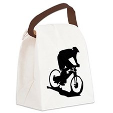 Mountain Biker Canvas Lunch Bag
