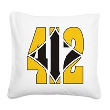 412 Gold/Black-W Square Canvas Pillow