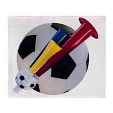 Football and horn Throw Blanket