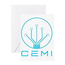 CEMI logo Blue Greeting Card