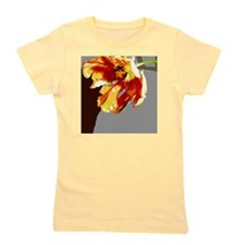 Abstract Orange  Gold Parrot Tulip Girl's Tee