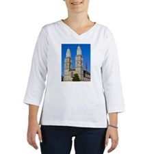 Grossmunster with twin towers,  Women's Long Sleeve Shirt (3/4 Sleeve)