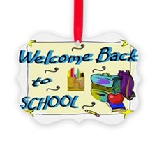 Welcome Back to School Backpack Ornament