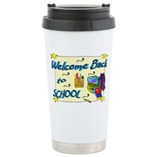 Welcome Back to School Backpack Ceramic Travel Mug
