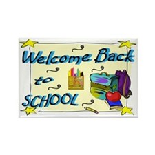 Welcome Back to School Backpack Rectangle Magnet