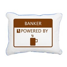 Banker Powered by Coffee Rectangular Canvas Pillow