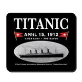 Titanic Ghost Ship (black) Mousepad