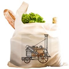 Illustration of early, steam Reusable Shopping Bag