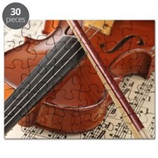 Violin and Sheet Music Puzzle