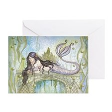 Lori Karels Mystical Art Blackhaired Greeting Card