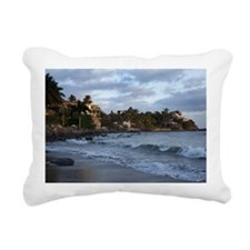Beautiful sunrise in Say Rectangular Canvas Pillow
