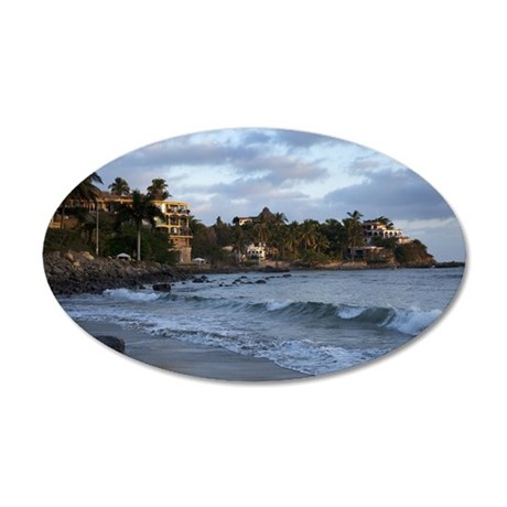Beautiful sunrise in Sayulit 35x21 Oval Wall Decal