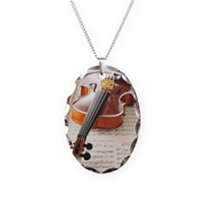 Violin on Sheet Music Necklace