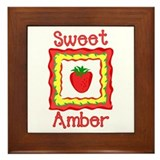 Sweet Amber Framed Tile