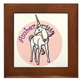 Amber Unicorn Framed Tile