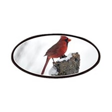 Cardinal On Stump Patches