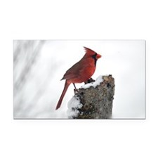 Cardinal on stump Rectangle Car Magnet