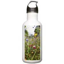 close-up of field of w Water Bottle