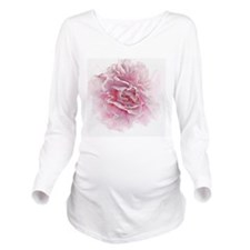 Close up of pink peo Long Sleeve Maternity T-Shirt