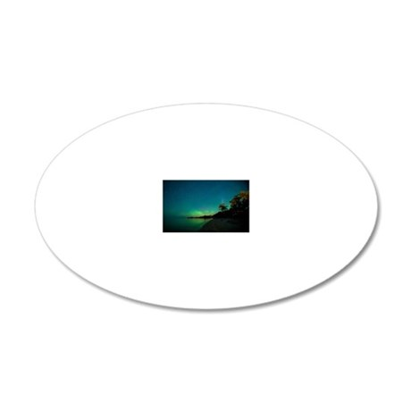 St. Laurent, Aurora Borealis 20x12 Oval Wall Decal