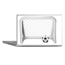Inflatable football / soccer goal wit Laptop Skins